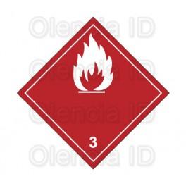 Etiquettes en bobine Liquide inflammable 100X100 mm