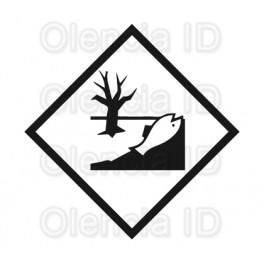 Etiquettes en bobine Matière dangereuse pour l'environnement 100X100 mm