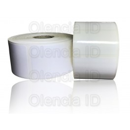 Etiquettes en bobine Polyéthylène 50x30 mm adhésif permanent