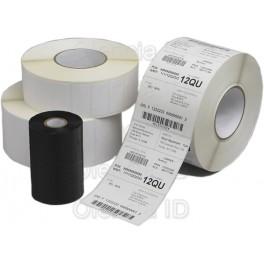 Etiquettes en bobine en velin 80x25 mm adhésif permanent