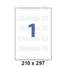 Etiquettes en planche 210x297 mm Jet/laser - adhésif permanent 1 pose