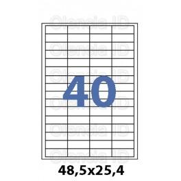 Etiquettes en planche A4 jet d'encre Papier Blanc Brillant Haute Définition Angle Vifs