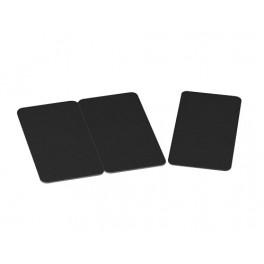 Tricartes PVC sécables en 3 Cartes noir finition matte