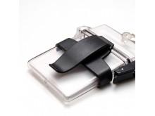 Clip ceinture pour boite porte-badges