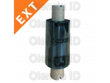 Ruban transfert thermique Cire/Résine, Zebra ZipShip 2300 64 mm x 74 M - mandrin 12,7 mm