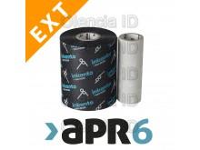 Ruban transfert thermique Blanc 60 mm x 300 M Cire/Résine Standard APR6 Mandrin 25,4mm encrage extérieur