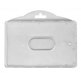 Porte badge rigides 2 cartes Hor.